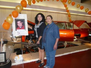 Sharon and Rosalie at the Caddy's first car show in Woodland in 2011